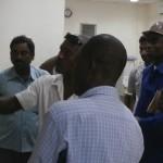 La délégation de l'ARSE recevant des explications de Wacem