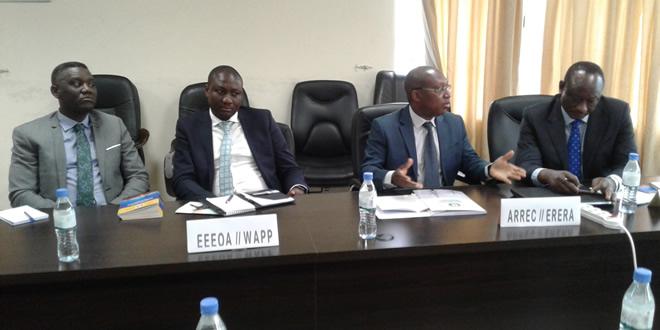 La délégation de l'ARREC à Lomé, à la veille du lancement de la première phase du marché régional en juin 2018.